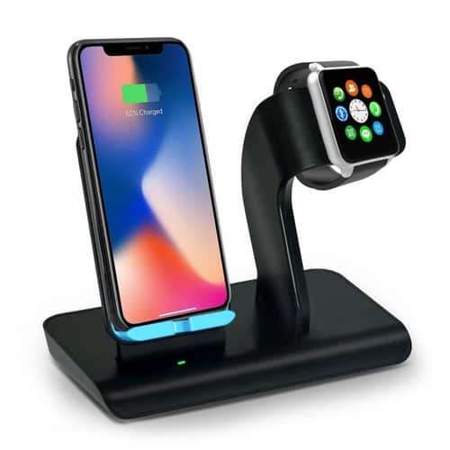 ASPECTEK Qi Wireless Charging Stand Compatible for Phone/ Apple Watch $17.49