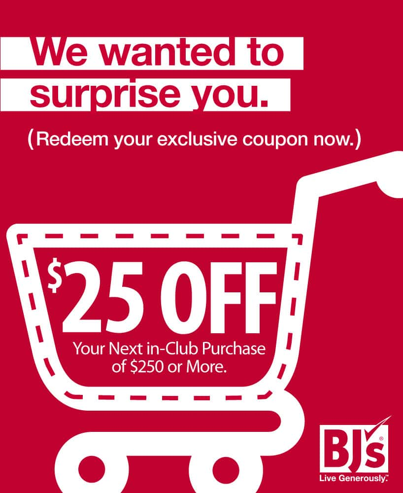 photo regarding Bjs One Day Pass Printable titled BJs Wholesale Printable Coupon for Inside-Club Buys $25