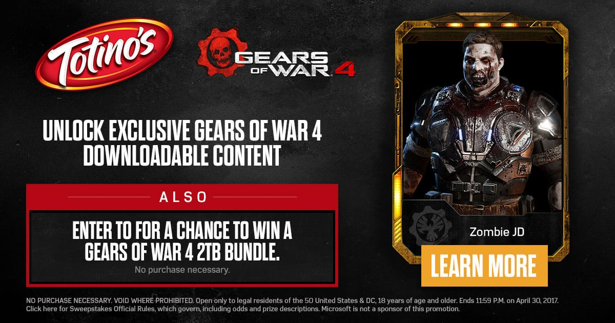 Free DLC codes for Gears of War 4