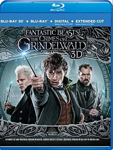 Prime Members:  Fantastic Beasts: The Crimes of Grindelwald (Blu-ray 3D + Digital HD) $ 12.99 + Free Shipping