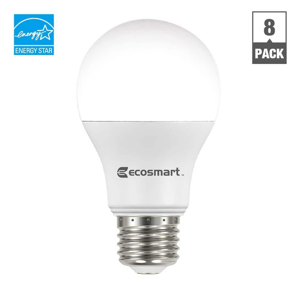 EcoSmart 60-Watt equivalent A19 non-dimmable LED bulb 4 pack $5.97 free ship (ymmv local subsidies)