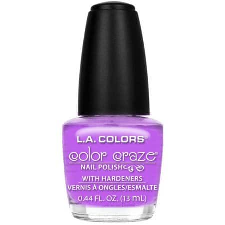 Select L.A. Colors Color Craze Nail Polish 98 cents  Walmart.com Tropical Breeze, Candy Sprinkles, PolishSpringFrost, free store pickup $0.98