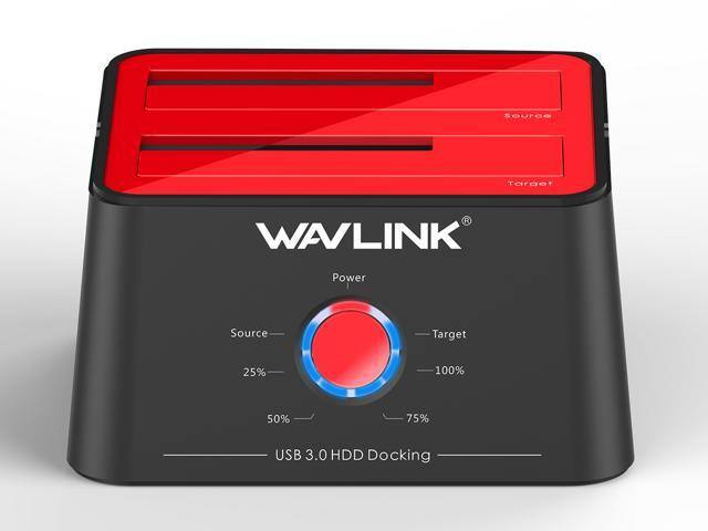 Newegg flash - Wavlink Dual Bay SATA Hard drive Docking Station - USB 3.0 in Red $19.99 shipped