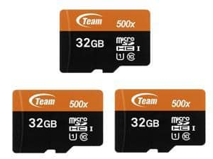 3 x Team 32GB micro SD SDHC for $9.99 FS - Newegg - UHS-I/U1 Class 10 Memory Card with Adapter, Speed Up to 80MB/s (TUSDH32GUHS03)