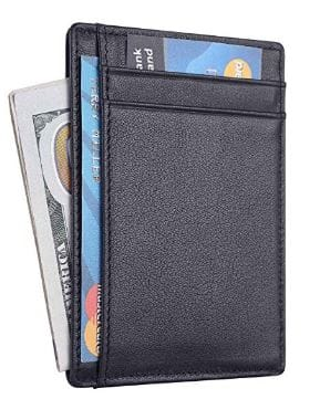 Amazon Lightning Deal: Travelambo RFID Front Pocket Minimalist Slim Wallet Genuine Leather Small Size $5.99
