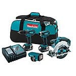 Makita LXT437 LXT 18V Cordless Lithium-Ion 4-Tool Combo Kit $250 + Free Shipping