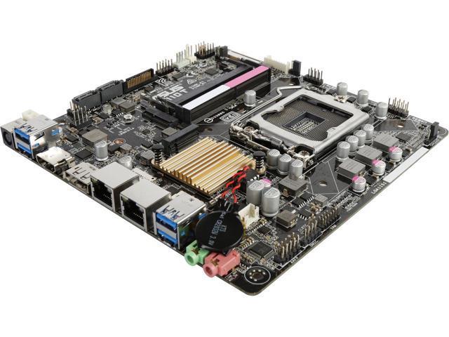 Open Box ASUS H110T/CSM LGA 1151 Intel H110 HDMI SATA 6Gb/s USB 3.1 Thin Mini-ITX Motherboards - Intel $57.59