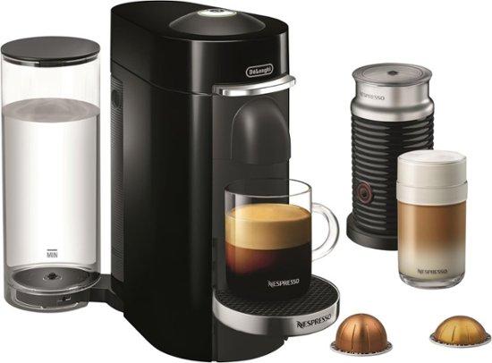 Nespresso - VertuoPlus Deluxe Coffee Maker and Espresso Machine with Aeroccino Milk Frother by DeLonghi $160.30