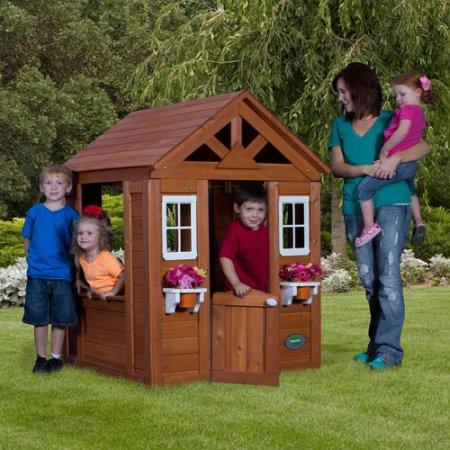 Cedar Wooden Playhouse Walmart in-store $75 ymmv