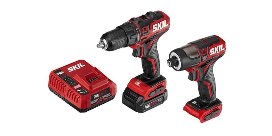 SKIL 12V Brushless 2-Tool Drill Combo Kit + 2.0Ah Lithium Battery + Pwrjump Charger $49.99  (38% off)