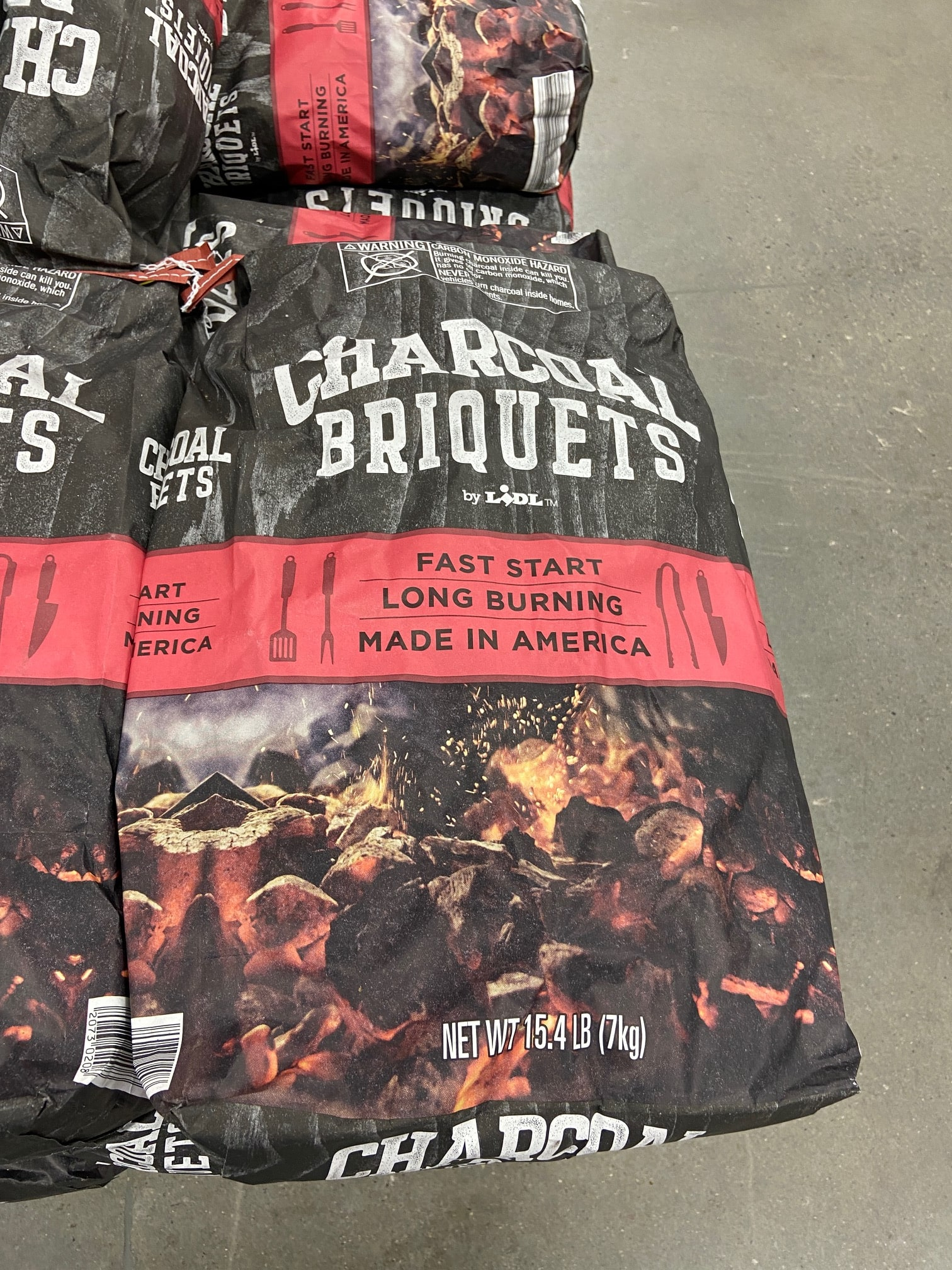 Lidl Store brand Charcoal Briquets 15.4lbs $2.89