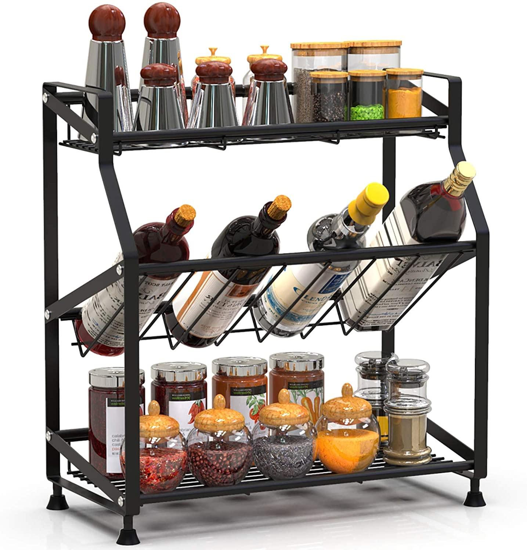 3 Tier Freestanding Kitchen Metal Spice Spice Rack $16.97