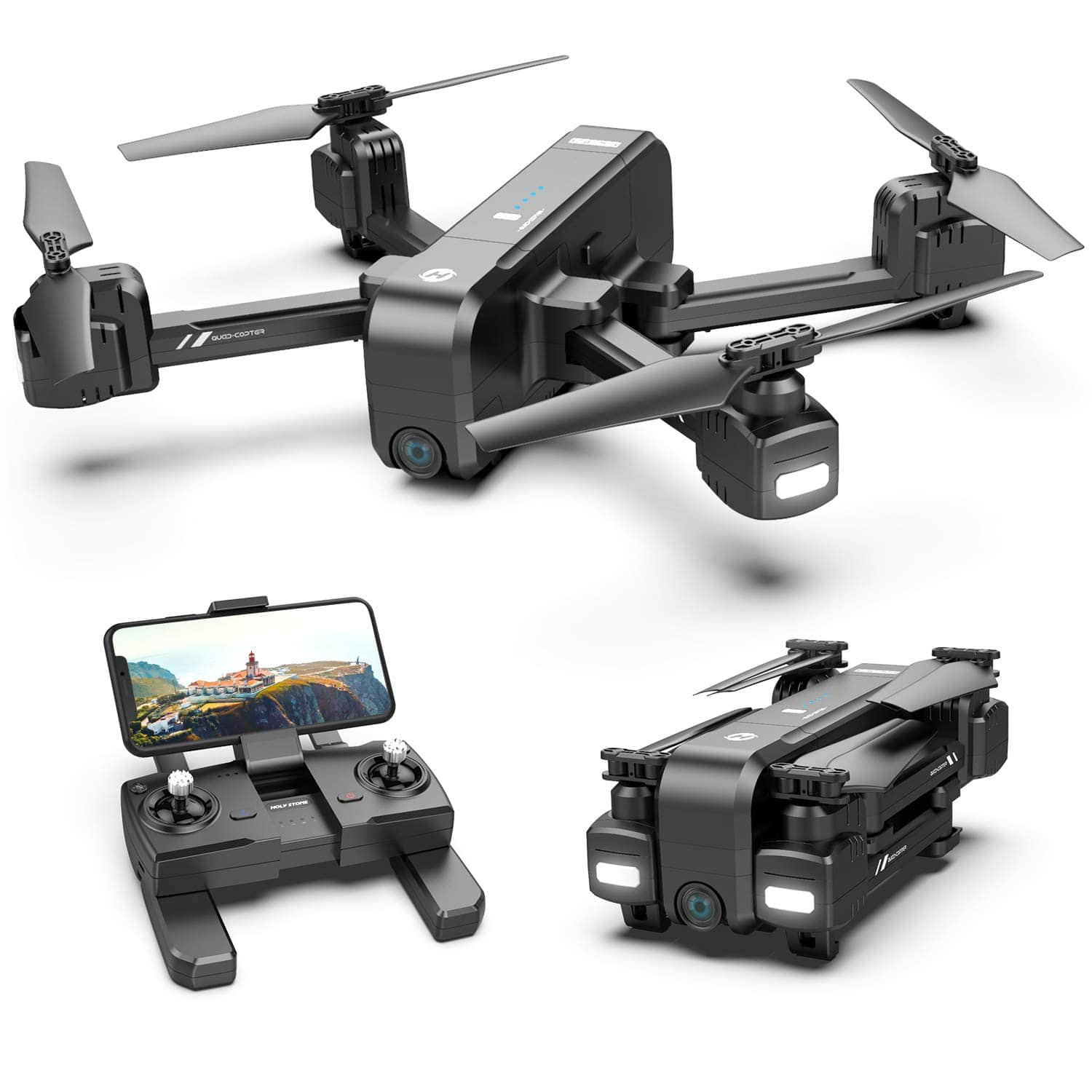 Holy Stone HS270 GPS 2.7K Drone with Auto Return Home $160.99