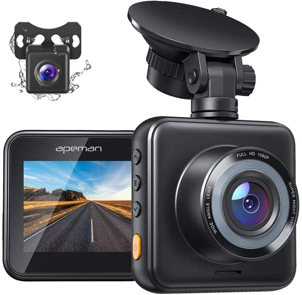 Dual Dash Cam - Front and Rear with Night Vision 1080P $32.99