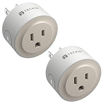 TECKIN Smart Plugs Compatible with Alexa & Google (2 Pack) $9.57