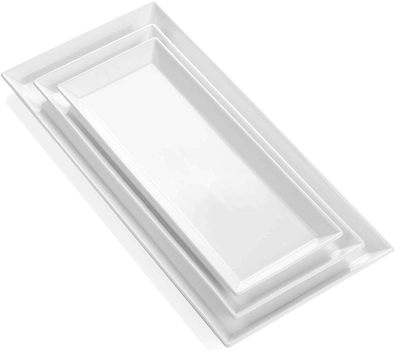 Rectangular Porcelain Serving Trays Platters - Set of 3 $19.82