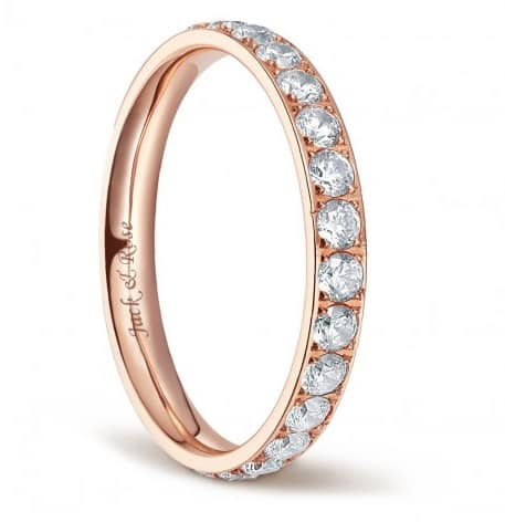 Titanium Engagement Rings for Women with Cubic Zirconia 3mm Eternity Ring $24+FS