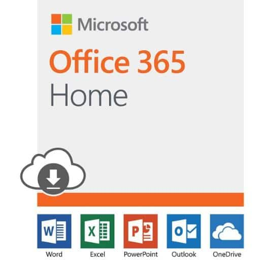 Microsoft Office 365 Home 12-month subscription Download $81.99