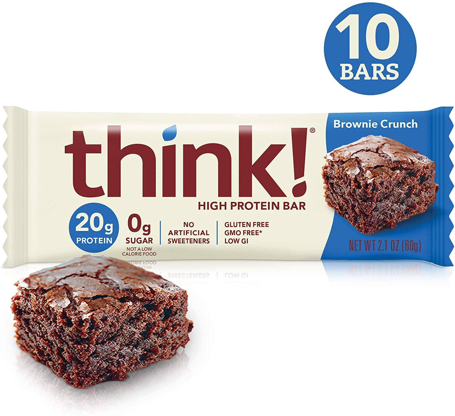 10-Ct 2.1 oz think! High Protein Bars: Brownie Crunch $7.35, Lemon Delight $6.60 w/ S&S & More + Free S&H