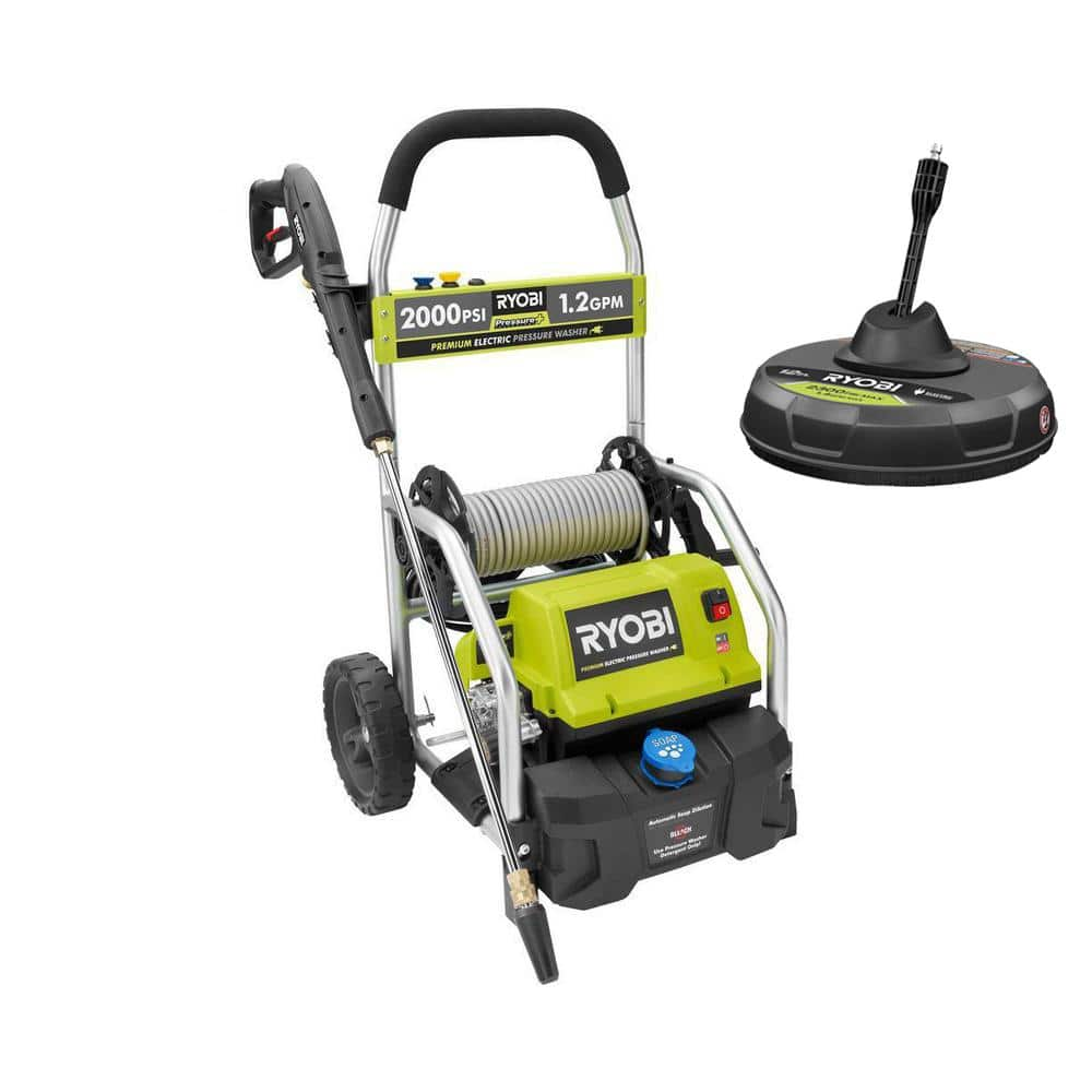RYOBI 2,000 PSI 1.2 GPM Electric Pressure Washer with 12 in. Surface Cleaner $179 *YMMV Deal* (price varies by location)