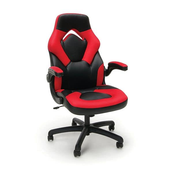 Essentials by OFM Racing Style Chair in RED at Staples PM Amazon.com for $57.72
