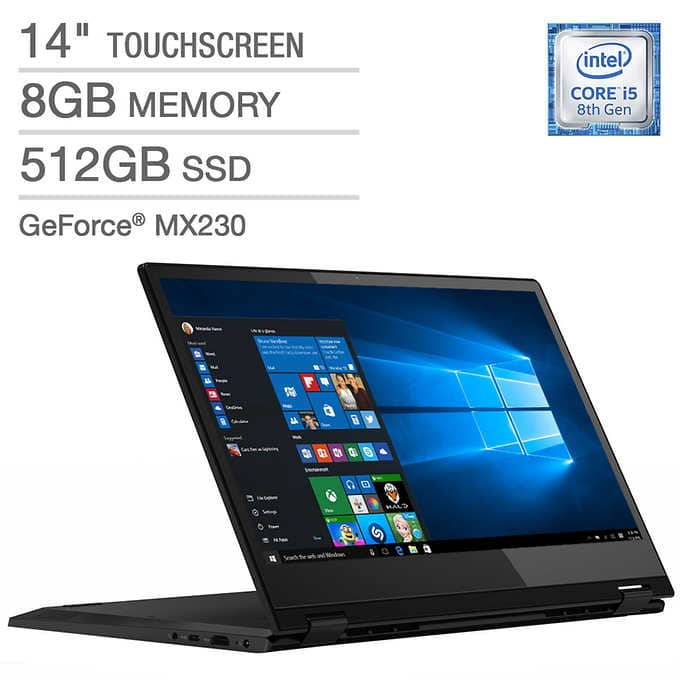 Lenovo Flex 14 Series 2-in-1 Touchscreen Laptop - Intel Core i5 - GeForce MX230 - 1080p $599