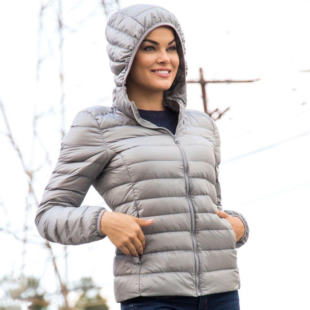 Alpine Swiss Womens Hooded Packkable Down Jacket  $6.88 FS