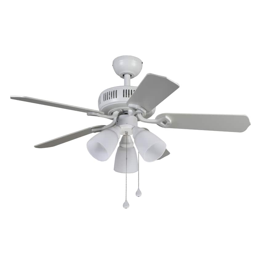 Harbor Breeze Barnstaple Bay 42 In White Downrod Or Close Mount Indoor Ceiling Fan With