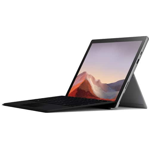 Microsoft Surface Pro 7 Platinum (10th gen i5 / 8GB / 128GB) Bundle with Black Surface Pro Type Cover $799