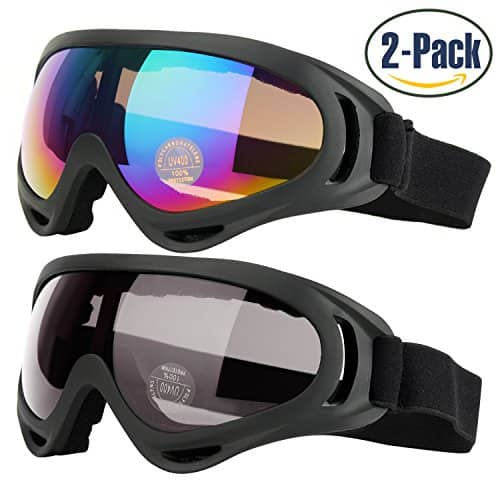 2d33f64bece0 2-Pack Ski Goggles Snowboard Goggles with UV 400 Protection for Kids ...
