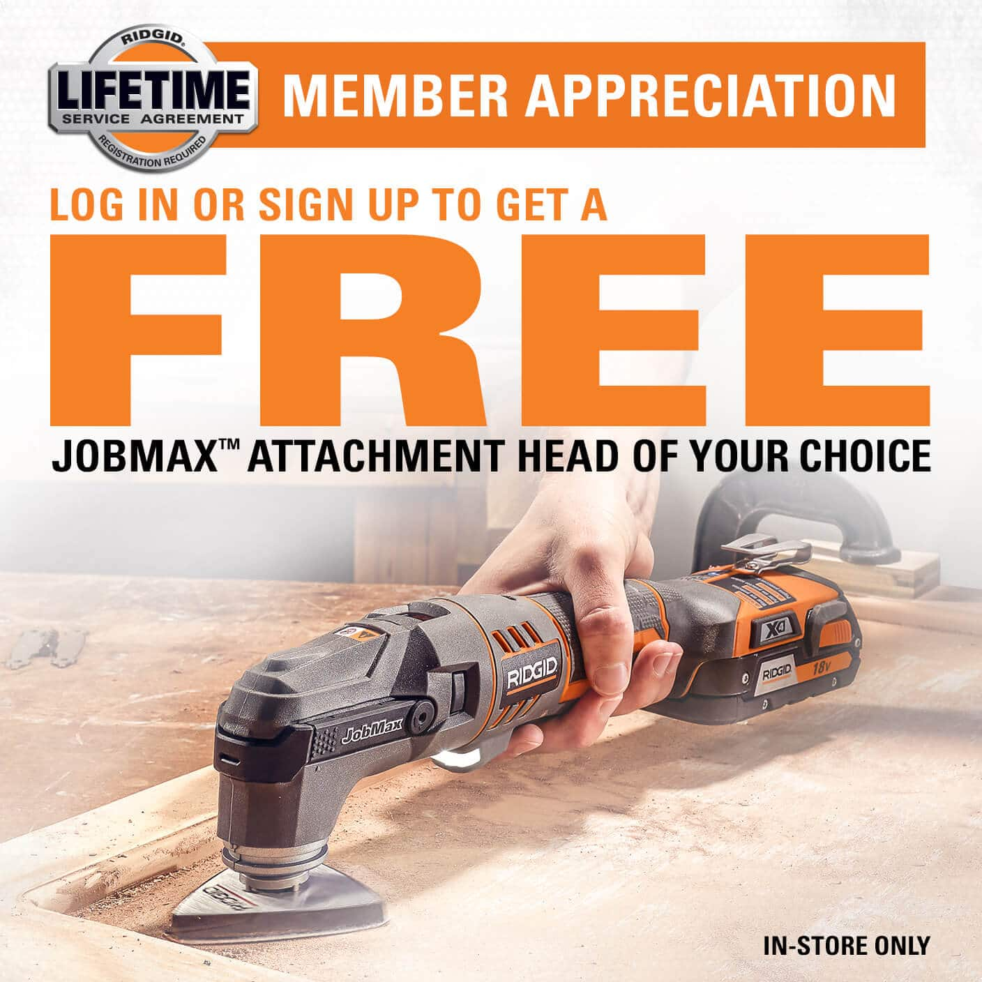 Free Jobmax accessory when you purchase a Jobmax console (instore only Home Depot)