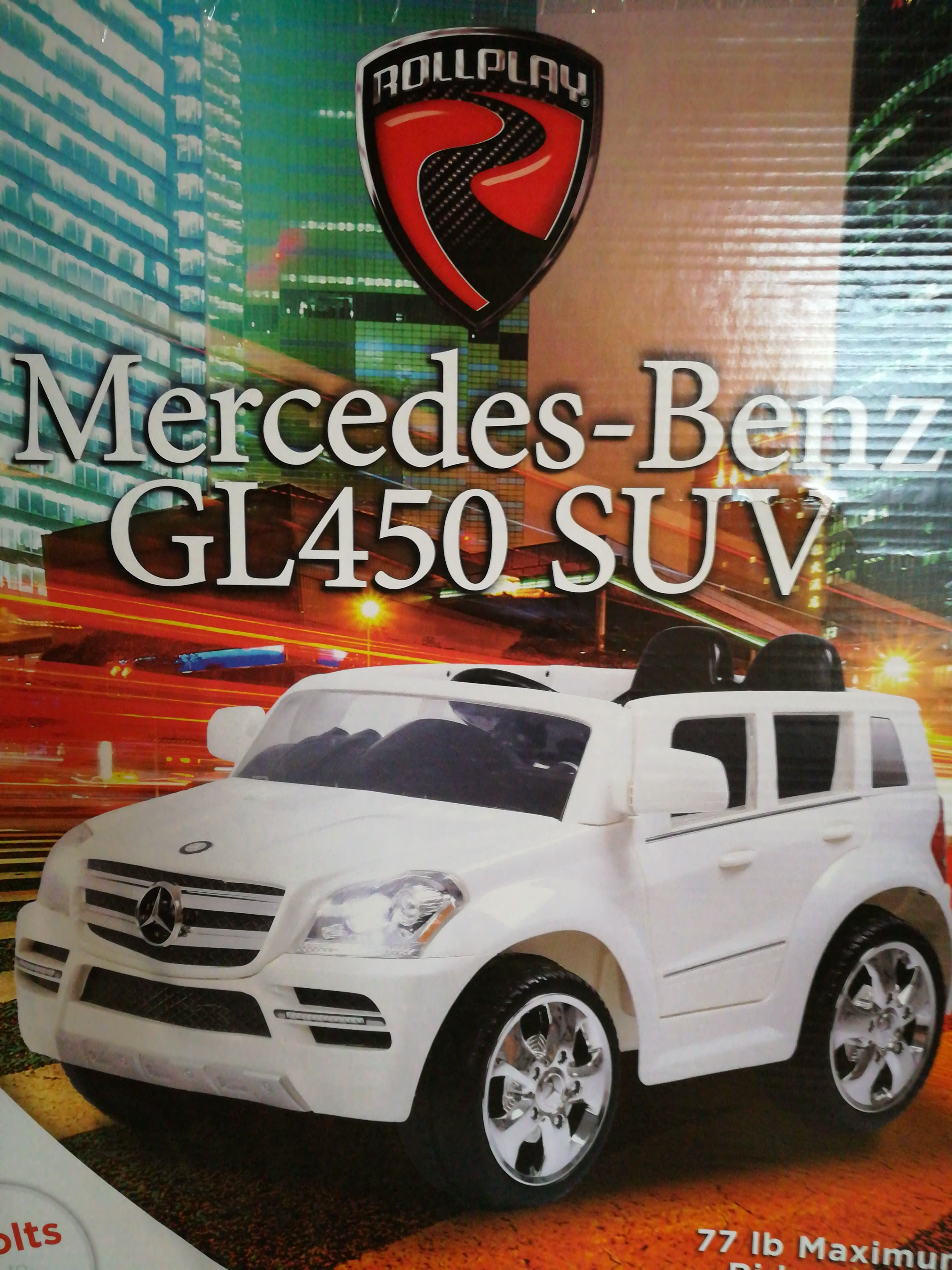 Rollplay Kids' Ride On 6V Mercedes Benz GL450 SUV - White - Target BM - $59.98