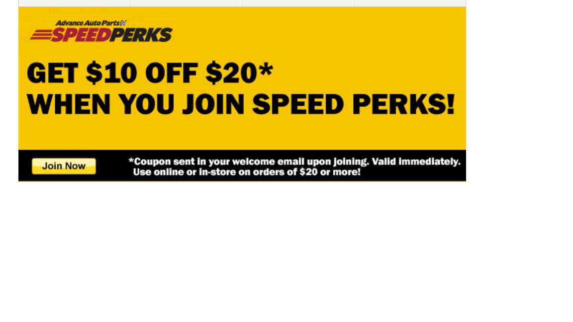 Advance Auto Parts $10 off $20 w/Speed Perks!