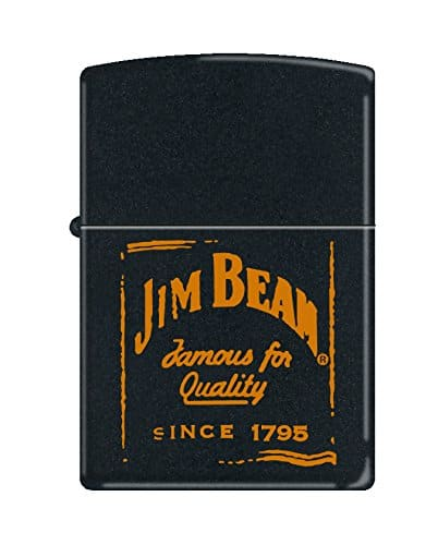 Jim Beam Zippo Lighter- Black Matte Logo - Amazon Smile - $8.57 w/Free Prime Shipping