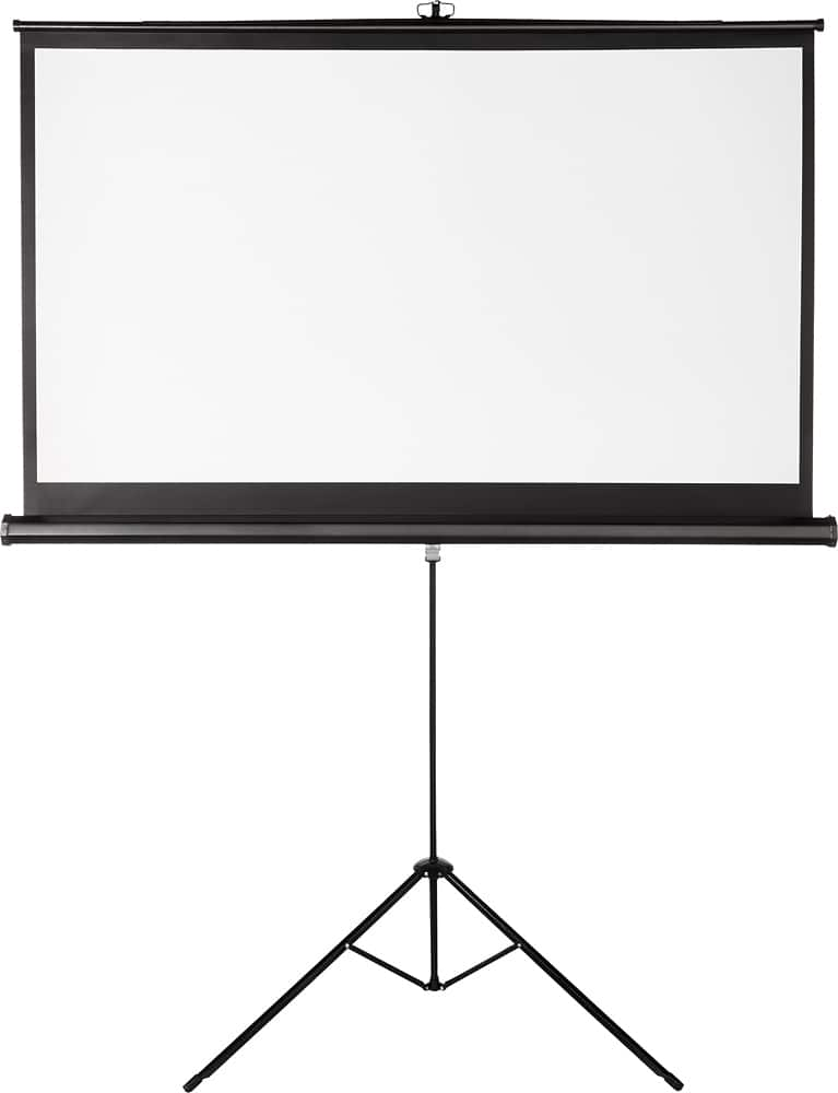"""Insignia™ - 75"""" Tripod Projector Screen - Black/White $50 with Free Shipping"""