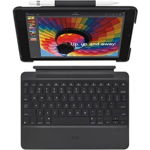Logitech - Slim Combo Keyboard Folio Case for Apple® iPad® $59.99