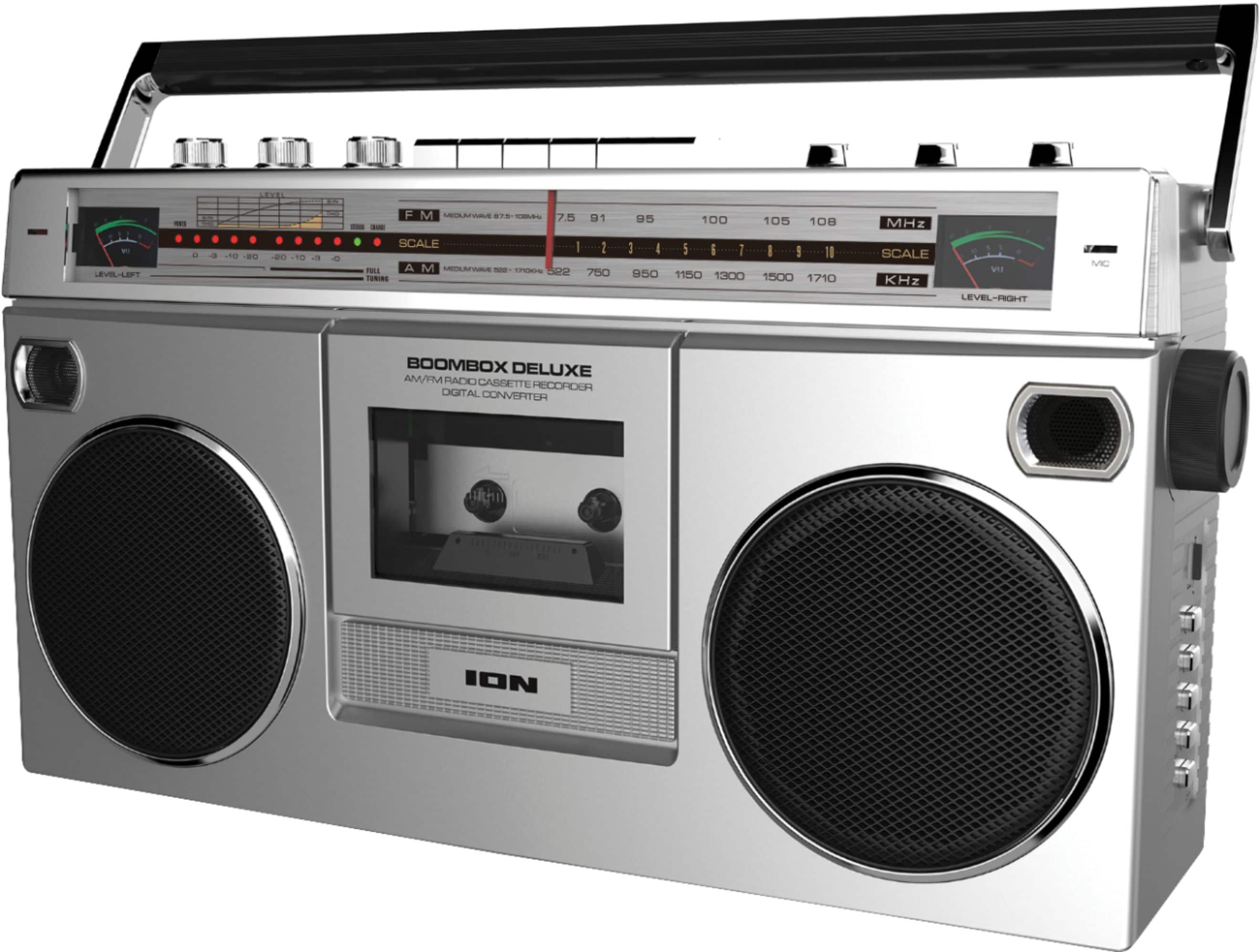 ION Audio - Boombox with AM/FM Radio - Silver $69.99 Free shipping