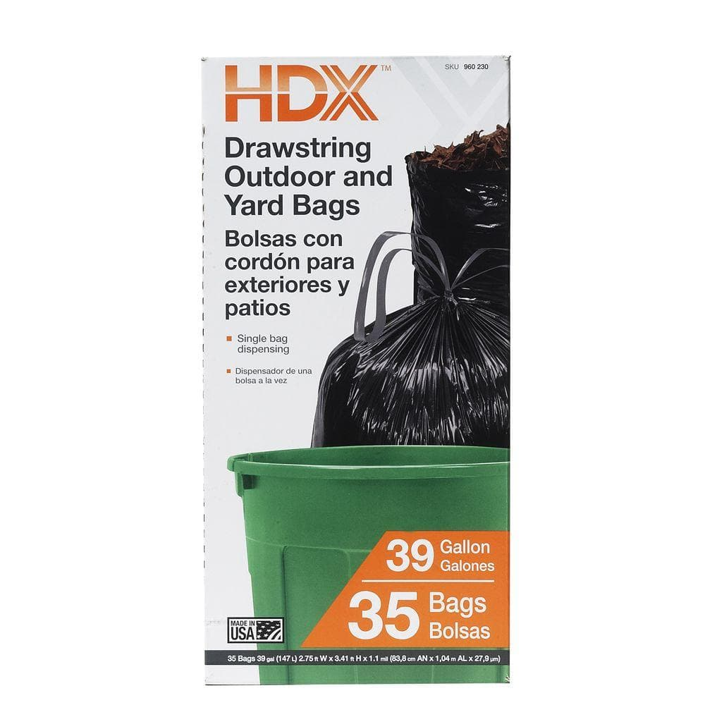 Drawstring Black Trash Garbage Bags 35 Count For 3 50 In Home Depot Slickdeals