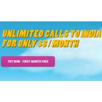 Rebtel Deal: Rebtel: Call India $8 per month 1st Month free