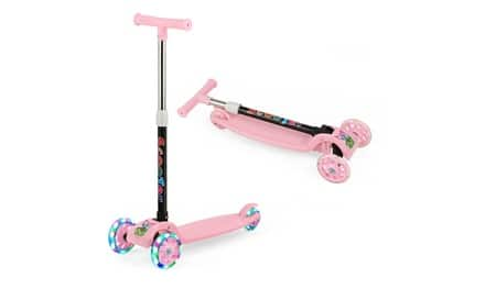 Kick Scooter with LED Light-Up Wheels $25.99