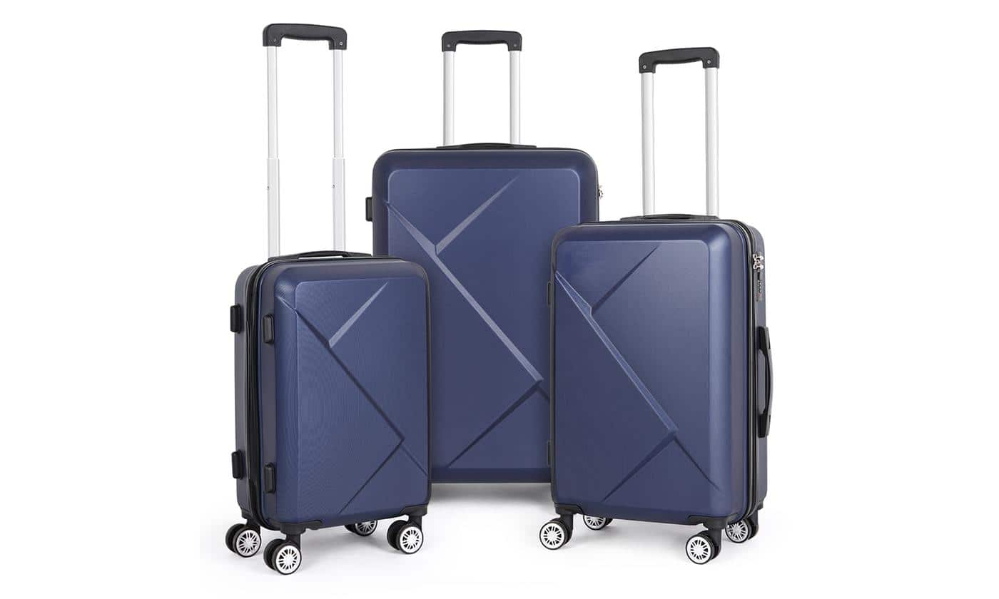3-Piece Set Hard Shell Travel Trolley Hand Luggage Suitcase $80.99