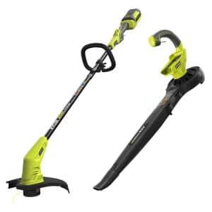 $128 40-Volt Lithium-Ion Cordless String Trimmer and Blower/Sweeper Combo Kit (2-Tool)