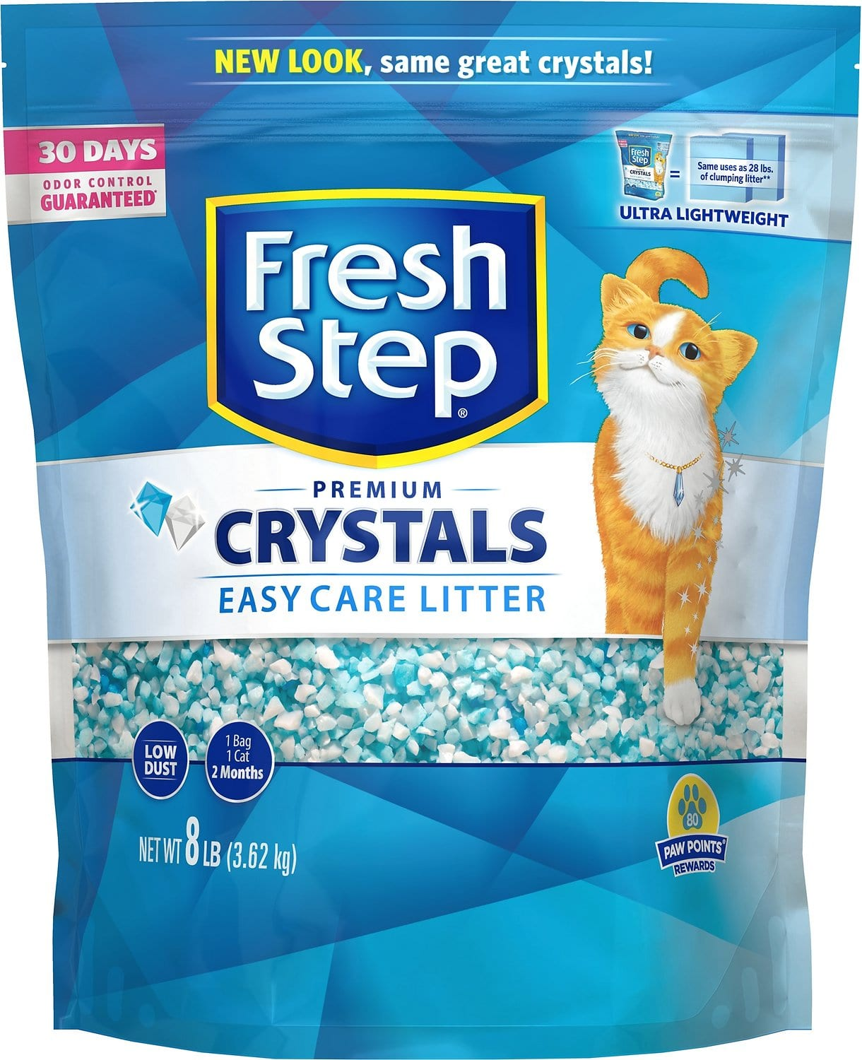 50% off Fresh Step Crystals Cat Litter, 8 lb bag + another 50% on first Autoship $3.2