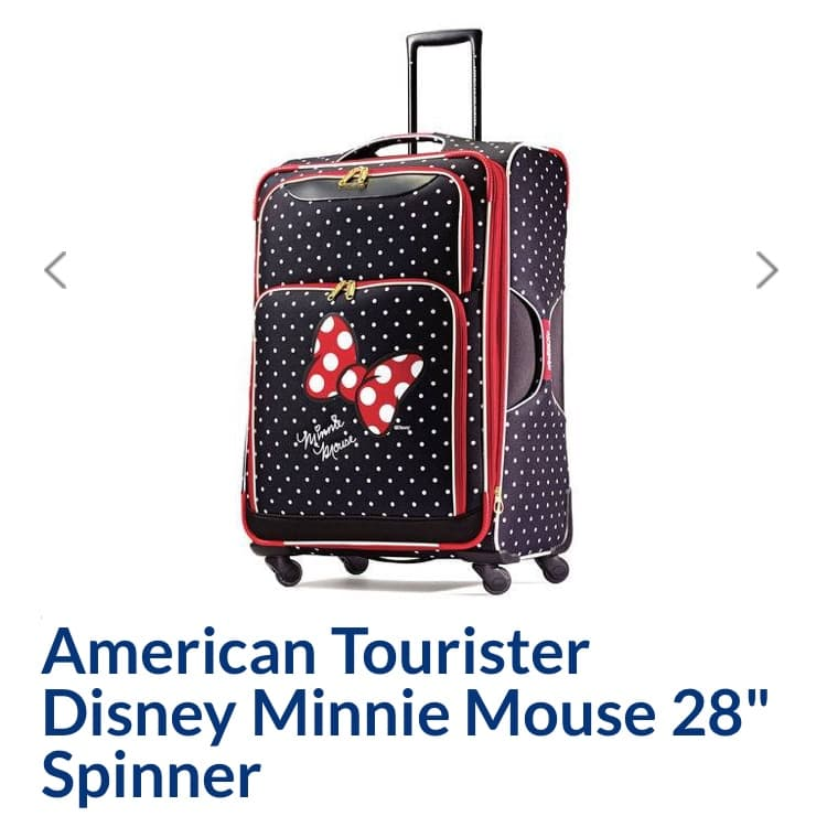 """American Tourister Minnie Mouse Luggage 28"""" $62.99"""