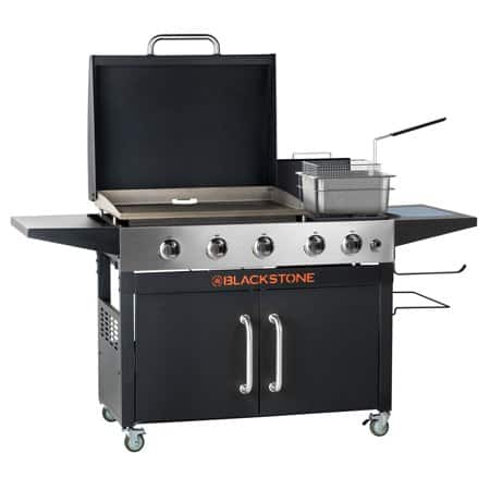 """YMMV Blackstone Range Top Combo 28"""" Griddle with 2 Side Burners and Fryer $299"""