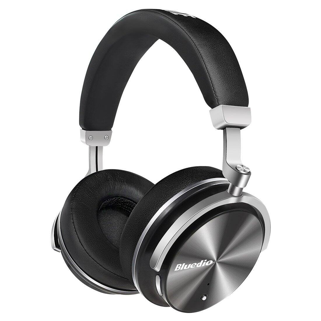 Bluedio T4 (Turbine) Active Noise Cancelling Over-ear Swiveling Wireless Bluetooth Headphones with Mic $29.89