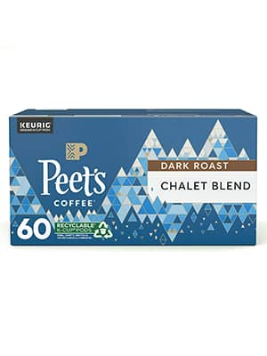 Peet's Coffee Dark Roast Single Serve KCup, Chalet Blend, 60 Count~$22.80 With 5% S&S @ Amazon~Free Prime Shipping!