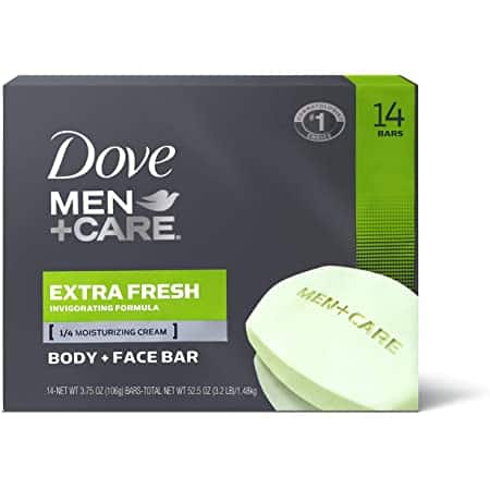 Dove Men+Care 3 in 1 Bar for Body,Face and Shaving to Clean and Hydrate Skin Extra Fresh Body, 14 Count of 3.75oz Bars 52.5 oz~$9.73 After Coupon & S&S @ Amazon~Free Prime Shipping