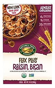 Nature's Path Organic Cereal, Flax Plus Raisin Bran, 14 Oz Box (Pack of 4)~$7.68 @ Amazon~Free Prime Shipping!