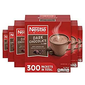 Nestle Hot Chocolate Packets, Dark Chocolate Flavor Hot Cocoa Mix, Made with Real Cocoa, 0.71 oz Sachets, Bulk Pack (300 Count)~$23.16 @ Amazon~Free Prime Shipping!